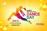 International Dance Day banner Bannière 4' × 6' template