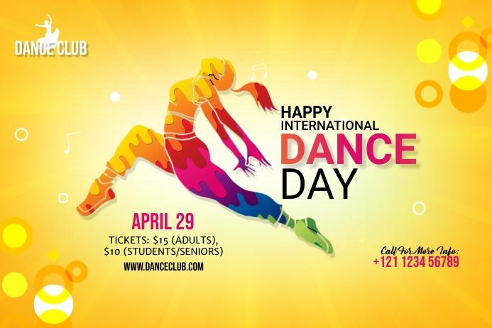 International Dance Day banner template