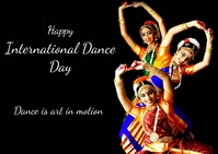 international dance day Postcard template