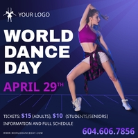 International Dance Day Event Social Media Po Instagram Post template