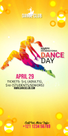 International Dance Day rollup banner template