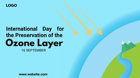 World Ozone Layer Day Twitter Post template