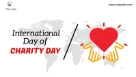International day of charity blog header post template