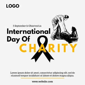 International day of charity Instagram Post template