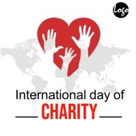 International day of charity social media pos โลโก้ template