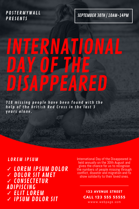 international day of disappeared flyer Design