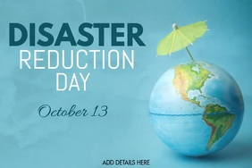 International Day of Disaster Reduction Poster template
