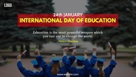 International day of Education Design Templat Blog Header template