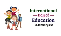 International Day of Education Etiqueta template