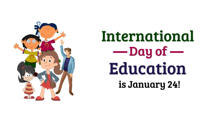 International Day of Education Tag template