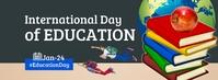 International Day of Education Foto Sampul Facebook template