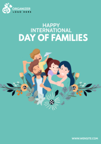 International day of families A4 template