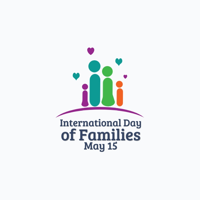 International Day of Families Logo template