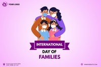International Day of Families instagram post Баннер 4' × 6' template