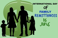 international day of family remittances Póster template
