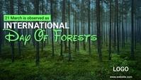 International Day of Forests Encabezado de blog template