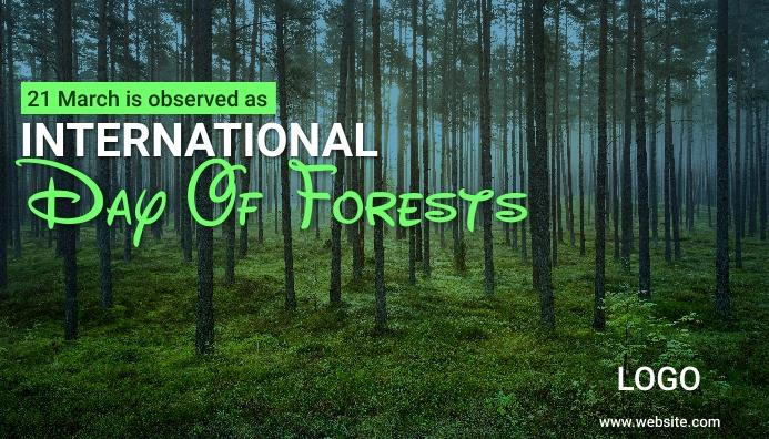 International Day of Forests ส่วนหัวบล็อก template