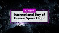 International Day of Human Space Flight Blog Header template