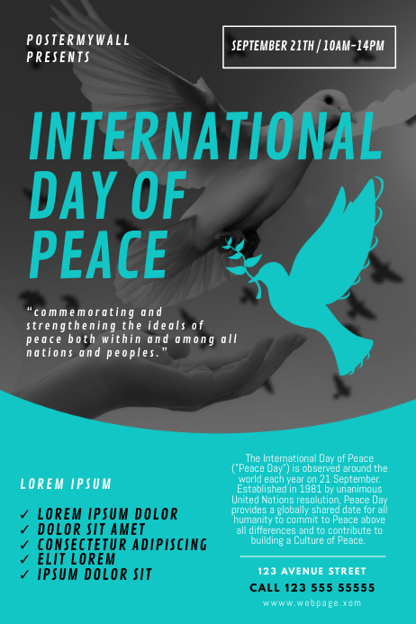 International Day Of Peace Flyer Template