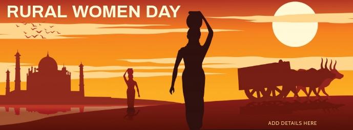 International Day of Rural Women Template รูปภาพหน้าปก Facebook