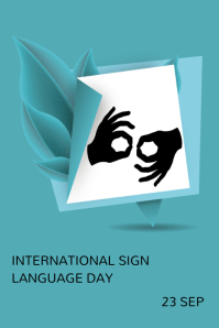 International day of sign language โปสเตอร์ template