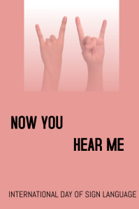 International day of sign language Poster template