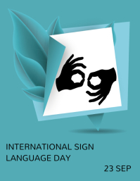 International day of sign language ใบปลิว (US Letter) template