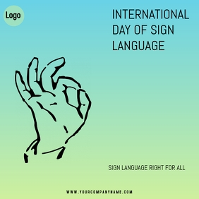 International day of sign language Instagram Post template