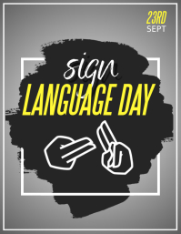 international day of sign languages ใบปลิว (US Letter) template