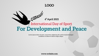 International Day of Sports Header Blog template