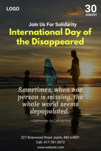 International Day Of The Disappeared Plakat template