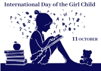 International Day of the Girl Child 4 A4 template