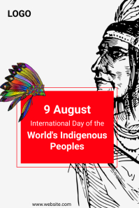 International Day of the World's Indigenous P Poster template