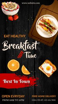 International egg day, healthy food,breakfas Instagram-verhaal template