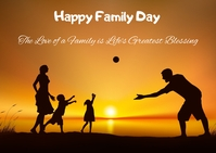 International Family Day Postcard template
