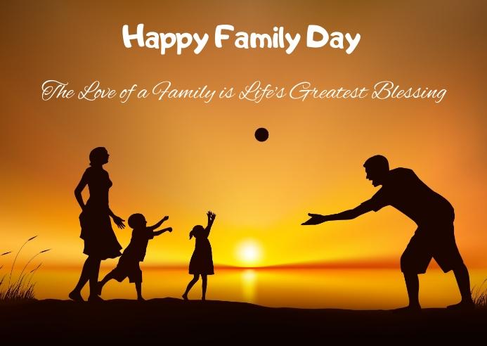 International Family Day Briefkaart template