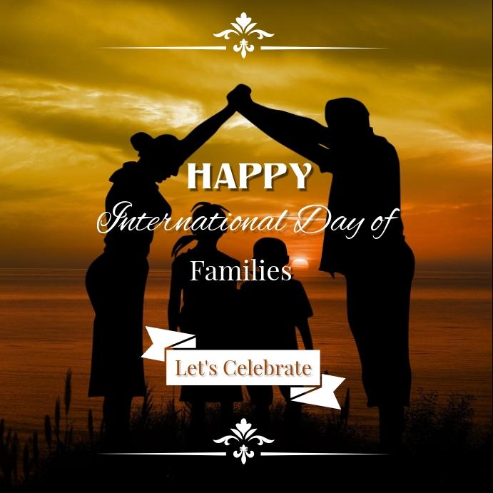 International Family Day Instagram Template