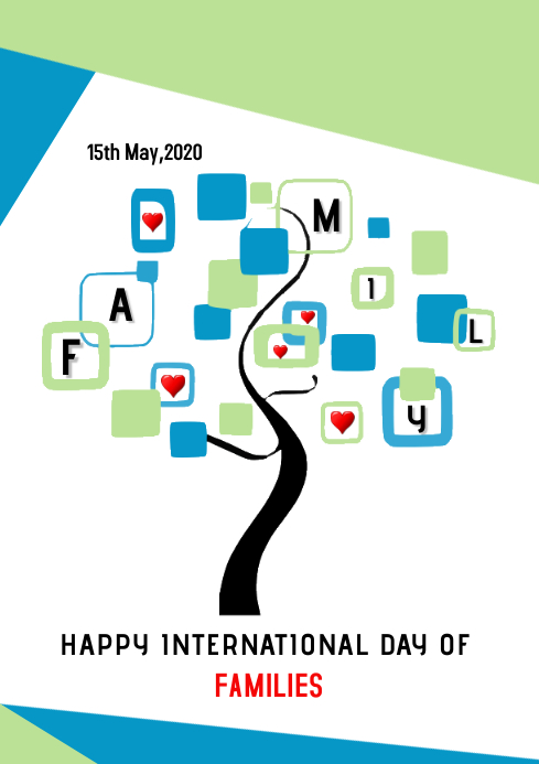 International Family Day Template Design A4