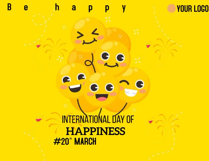 International Happiness Day Flyer (US Letter) template