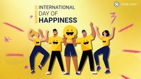 International Happiness Day Pos Twitter template