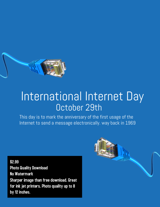 International internet day poster template