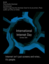 International internet day poster template