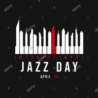 International Jazz Day Post Instagram template