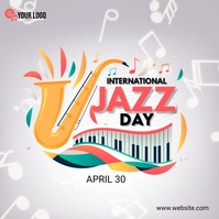 International Jazz Day Instagram-Beitrag template