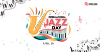 International Jazz Day Anúncio do Facebook template