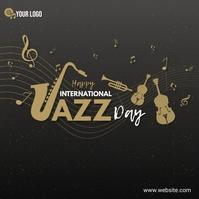 International Jazz Day Instagram-opslag template