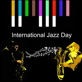 INTERNATIONAL JAZZ DAY INSTAGRAM POSTER template