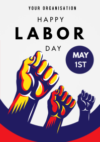 International Labor Day A3 template