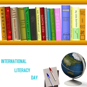 International Literacy day Instagram Post template