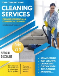 Cleaning services,spring cleaning Ulotka (US Letter) template